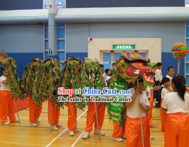 Primary School Students Dragon Dance Equipment Complete Set
