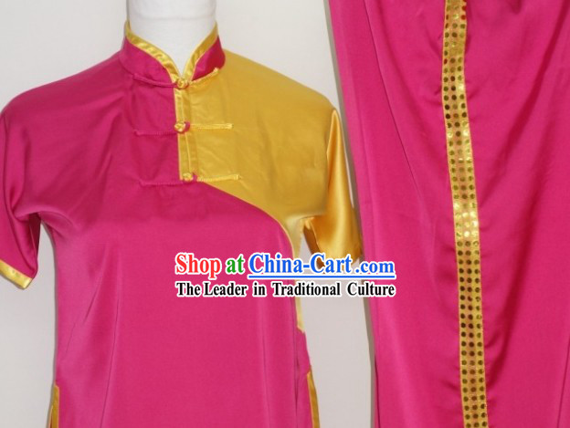 Top Chinese Traditional Silk Kung Fu Uniform for Junior School Students Children