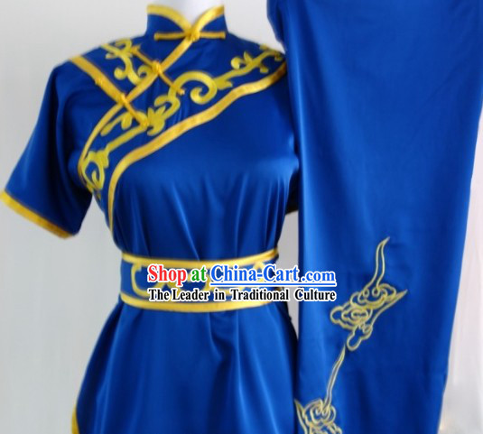 Professional Kung Fu Silk Uniform Complete Set