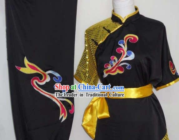 Natural and Flowing Style Martial Arts Competition Championship Uniform Complete Set