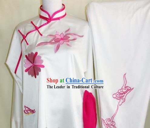 Kung Fu (Kungfu) Uniform Silk White Cuff