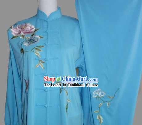 Kung Fu Uniform  Traditional Style Silk Long Sleeve