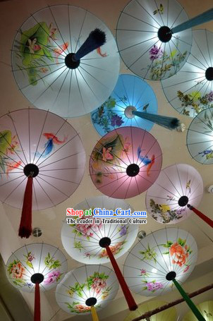 Handmade Traditional Chinese Umbrella Pendant Light