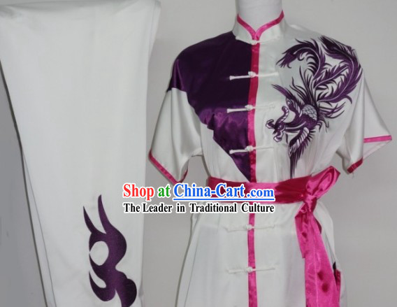 Global Championships Tournament Wushu Phoenix Embroidery Uniforms