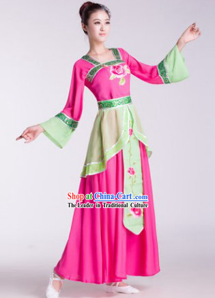 Chinese Classical Hanfu Dance Costumes and Hair Accessories for Women