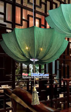 Handmade Traditional Chinese Fabric Umbrella Shape Lantern