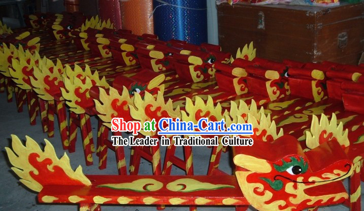 Traditional Chinese Handmade Kung Fu Dragon Dance Wooden Benches