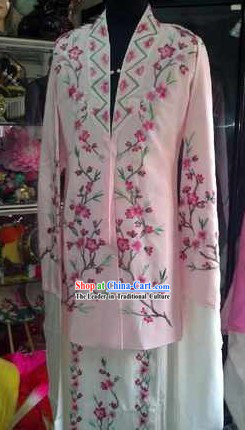 Ancient Chinese Embroidered Flower Long Robe for Women