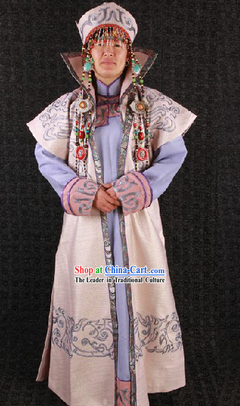 Ancient Mongolian Empress Costumes and Hat for Women