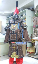Ancient Chinese Military Armor Costumes and Helmet Complete Set for Men