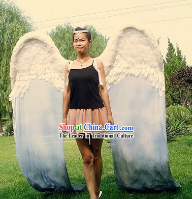Long Feather Angel Wings Stage Performance Prop