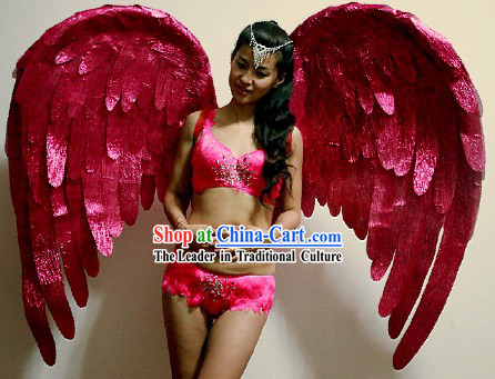 Handmade Pink Angel Wings