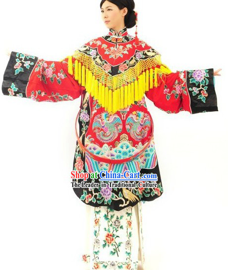 Traditional Chinese Beijing Opera Phoenix Embroidery Hua Dan Stage Performance Costumes