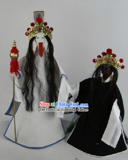 Traditional Handmade Nether World Deities Glove Puppets Hand Marionette Puppets