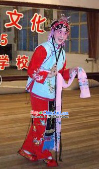 Traditional Chinese Peking Opera Daughter Costumes for Kids