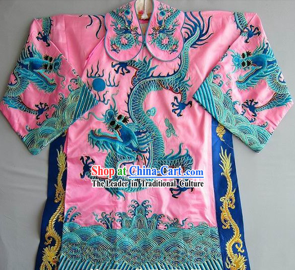 Ancient Chinese Embroidered Dragon Robe