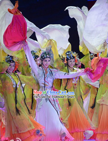 Chinese Classic Dancing Costumes and Headwear for Women