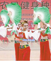 Female Yangge Dance Costumes and Hat