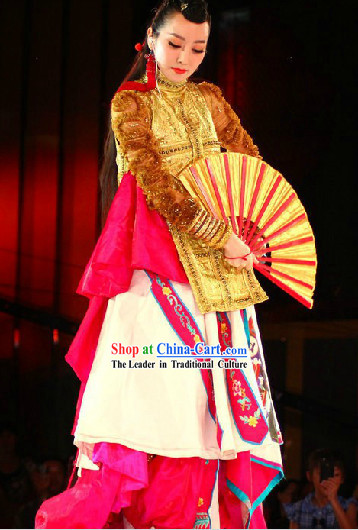 Sa Ding Ding Stage Performance Wan Wu Sheng Costumes and Accessories Complete Set