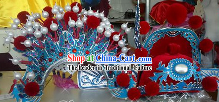 Ancient Chinese Bridegroom Wedding Hat and Phoenix Coronet