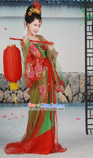 Tang Dynasty Imperial Lady Suit and Hair Accessories