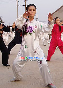 Traditional Chinese Silk Kung Fu Uniform for Women