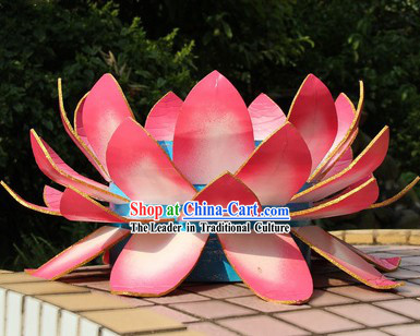 Big Pink Lotus Props for Professional Stage Performance