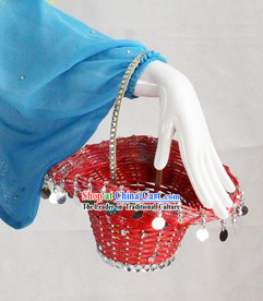 Traditional Chinese Basket Props for Professional Stage Performance