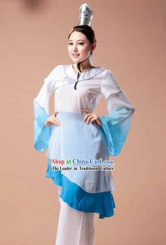 Zhu Yingtai Chinese Classical Dancing Costumes and Recital Wear Complete Set