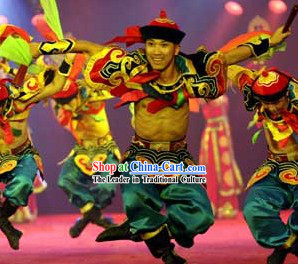 Mongolian Chopsticks Dance Costumes for Both Student and Professional Dancers