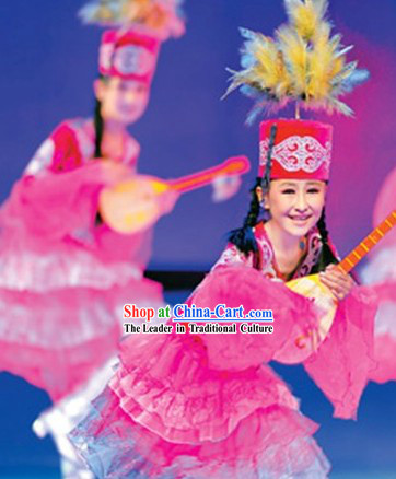 Kazak Dance Costumes and Headdress Complete Set