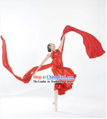 4 Meters Yangge Dance Fabric Long Cloth