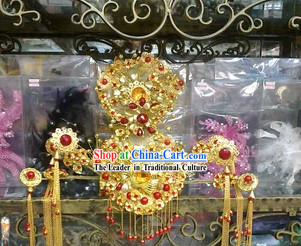 Gold Princess Wedding Coronet