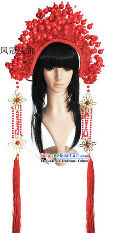 Red Wedding Ceremony Headdress