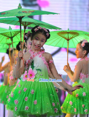 Umbrella Dancing Costumes for Women or Kids
