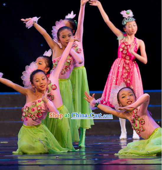 Lotus Dancing Costumes for Women or Kids