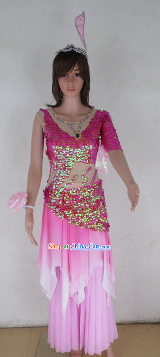 Professional Stage Performance Fish Dance Costumes