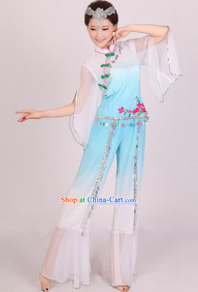 Professional Stage Performance Yangge Dance Outfit