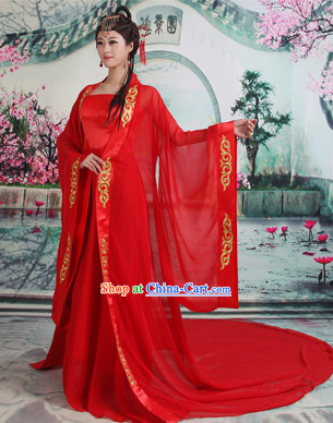 Ancient Chinese Red Wedding Clothes for Women