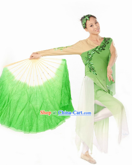 Leaf Fan Classical Dancing Costume and Headdress
