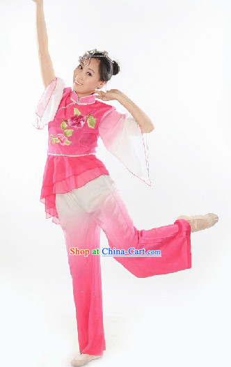 Traditional Yangge Dancing Costume for Girls