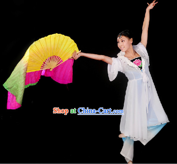 Professional Stage Performance Fan Dancing Costumes for Girls