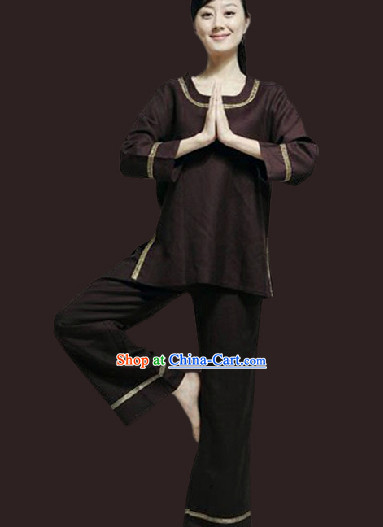 Top Comfortable East Widsom Meditation Yoga Kung Fu Teacher Outfit