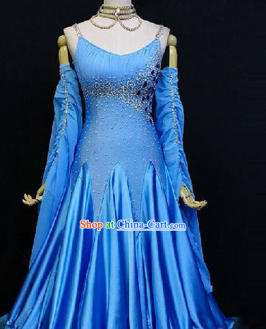 Professional Custom Made Waltz Competition Costumes