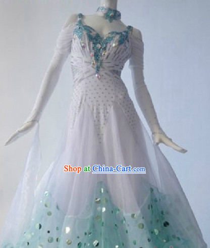 New Ballroom Competition Dance Dress Modern Waltz