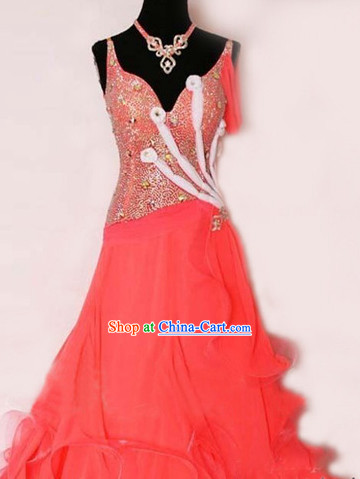 Top Tailored Made Red Waltz Dance Uniform