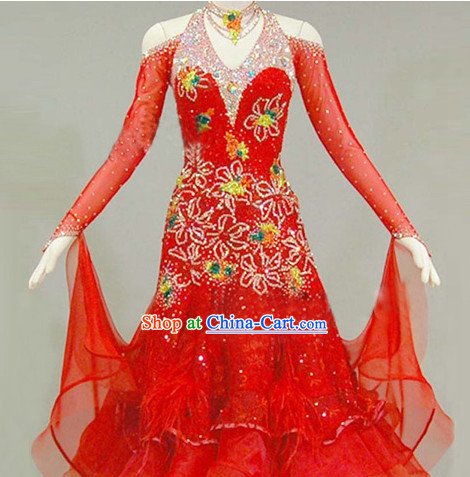 Special Custom Made Latin Waltz Competition Dance Costume