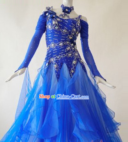 Special Custom Tailored Made Ballroom Competition Dancing Costumes