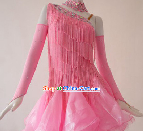 Competition Quality Ballroom Fringe Dancing Outfit for Women