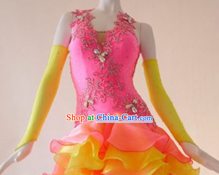 Professional Cha-cha Competition Dancewear for Women